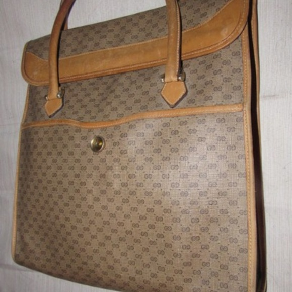 Gucci Handbags - Vintage Tan Small G Logo Coated Canvas & Leather
